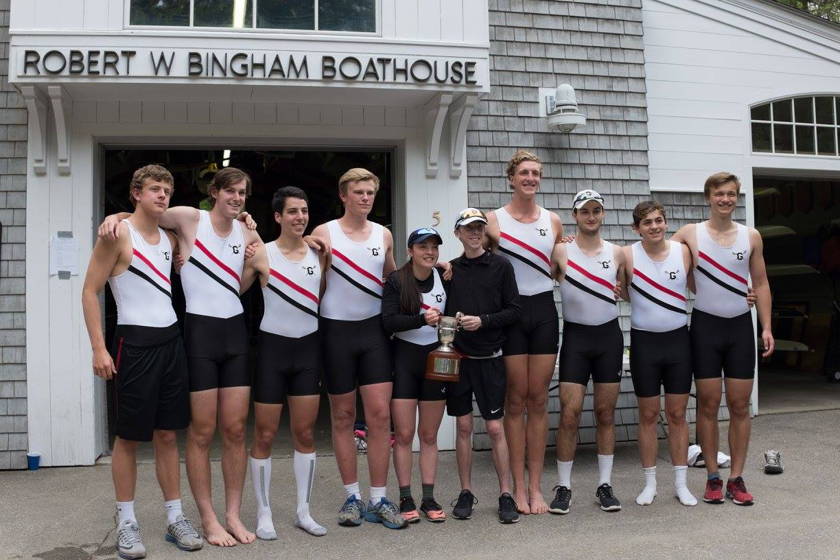 First and second boats after winning the Cooke Cup.
