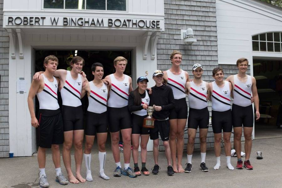 First+and+second+boats+after+winning+the+Cooke+Cup.+