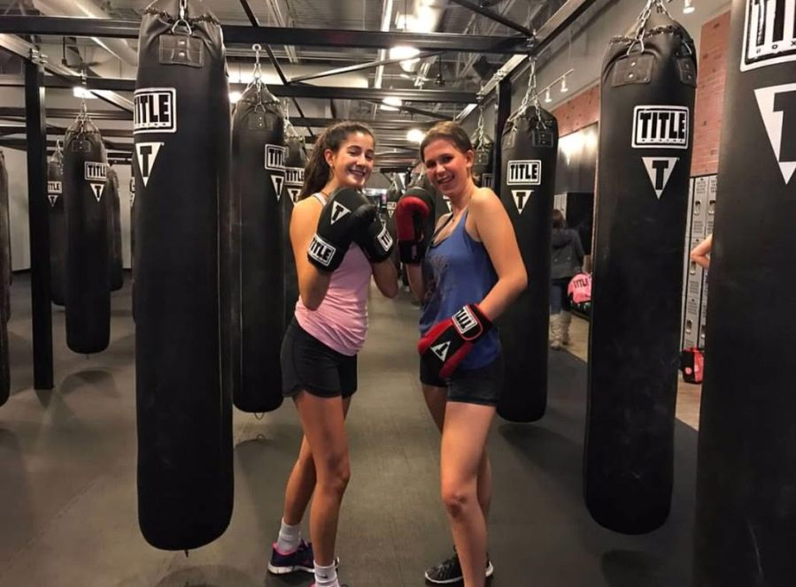Elizabeth+and+Mary+kickboxing.