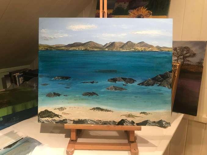 Ruth Mattew Dodd landscape painting. Photo: Akinshilo Ayomide