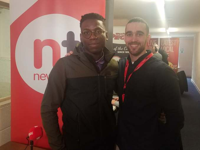 Newstalk reporter, Adrian and I