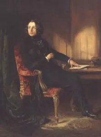 Portrait painting of Charles Dickens by Daniel Maclise, dating from 1839.