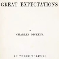 Cover from the original publication of <em><strong>Great Expectations</strong></em> released as three volumes in 1861.