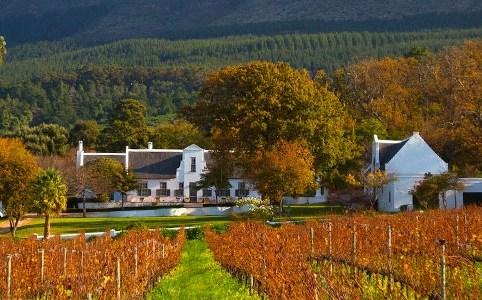 Wijnhuis Klein Constantia in Zuid-Afrika