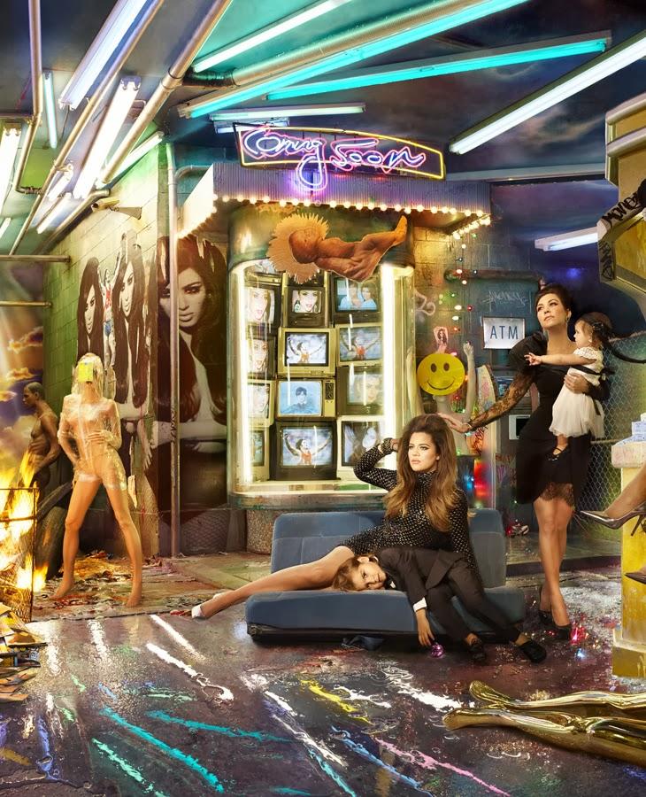 The Kardashians Christmas Card By David LaChapelle 3 The