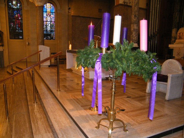 Advent Wreath at the Carmelytte Church, Aungier Stree in Dublin
