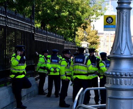 More Garda at the back of Leinster House