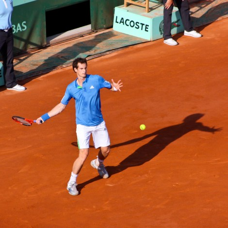 Murray in action. Photo courtesy of Roland Garros on Flickr