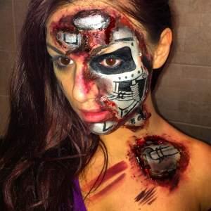 Terminator Halloween look by Rachel Taglient MUA