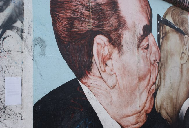 """""""My God, Help me to Survive this Deadly Love"""", 1990's Graffiti on Berlin Wall"""
