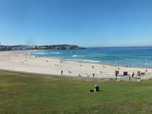 Sydney's Iconic Bondi beach in July.