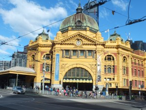 Flinders Street Train Station in Melbourne.