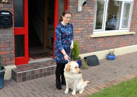 Noreen McInerney and her guide dog Huw