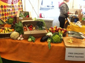 Organic fruit and vegetables, Galway Food Festival, Easter Weekend 2015. Photo by Rachael Hussey