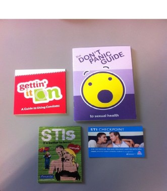 Pamphlets from DIT medical centre. Photo by Rachael Hussey