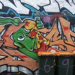 Street art by Crept, Liberty Lane, Dublin, image by Hannah Lemass