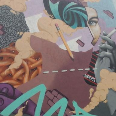 Mural in the Tivoli theater carpark, image by Hannah Lemass