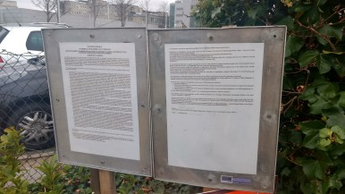 Planning permission posted at St. Vincent's University Campus, image Hannah Lemass