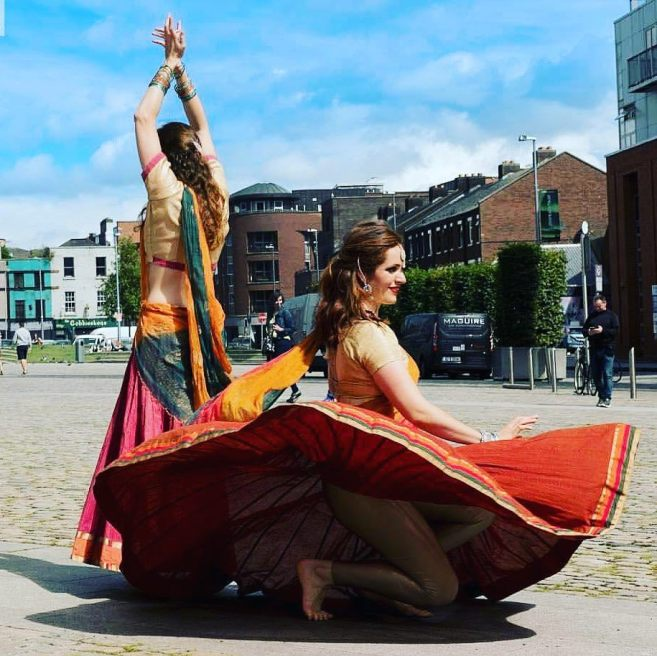 Bollywood dancers at Fusion Sundays Market Facebook @fusionsundaysmarket