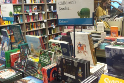 Children's book stand in Dubray Books, Grafton St