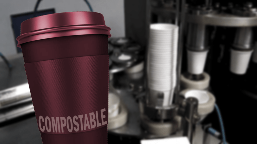 Production of a compostable cup