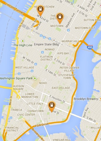 Fast chargers in NYC (plugshare.com)