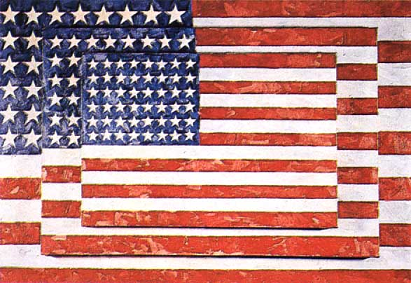 """Jasper Johns, """"3 Flags"""" (1958); Whitney Museum"""