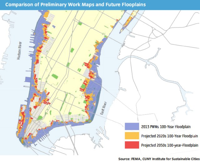 Projected flood zones to 2050 (SIRR/CISC)