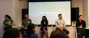 SWNYC Social Impact panel @ Google Chelsea Market on June 27 2014. (Photo credit: Ingrid Spielman) http://blog.up.co/2014/07/02/social-impact-panel-four-roads-success/