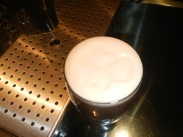 If you look closely enough, you'll see a lovely shamrock in the head of this pint of Guinness!