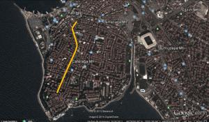 Moda Caddesi Bisiklet Yolu, Kadıköy, İstanbul, Türkiye, Google Earth Görüntüsü
