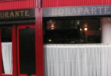 The quaint restaurant Bonaparte offers clients an authentic French lunch.