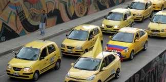 Taxi protest in Bogotá