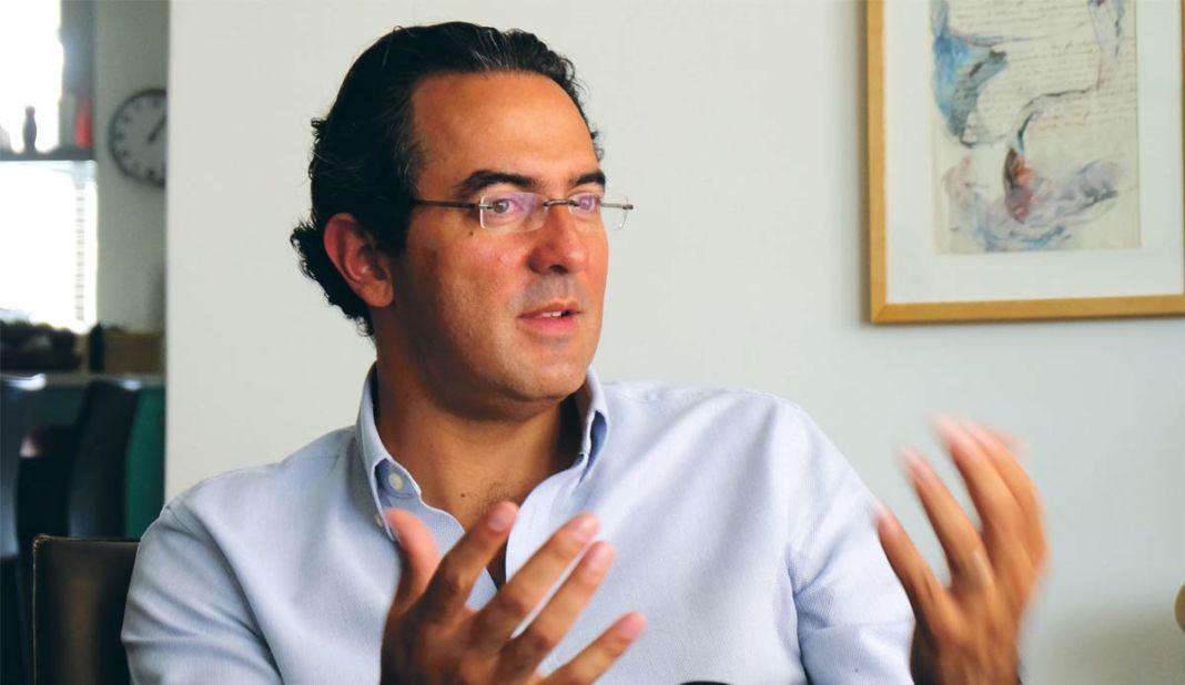 Colombian author Juan Gabriel Vasquez