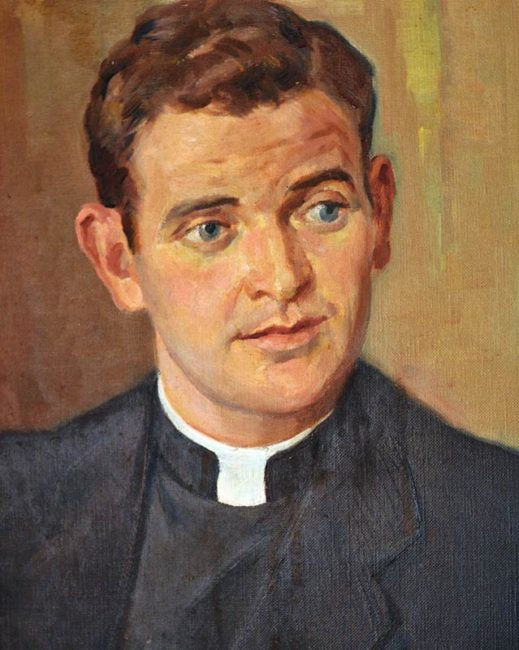 Joe Broderick as a diocesan priest in Melbourne. (Provided)