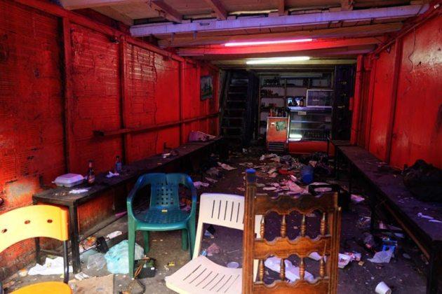 "Inside one of the many El Bronx ""bars."""