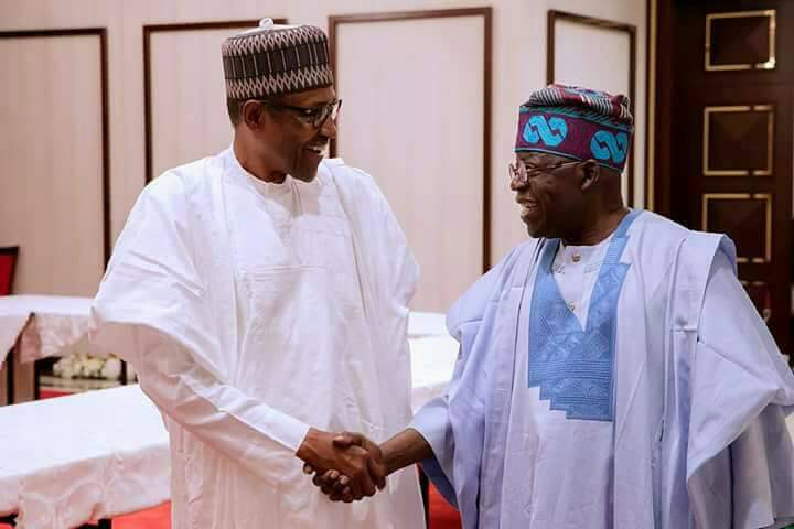 Tinubu Refuse To Comment On Buhari Re-election Bid After Aso Rock Meeting