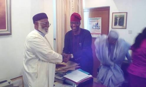 PDP Chairmanship Race: Gbenga Daniel Leads Other Aspirant, Pays Courtesy Visit To Abdulsalam Abubakar.