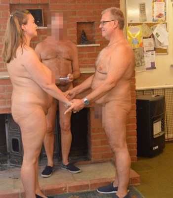 Photos As Couple Marry Naked In Front Of Naked Officiator And Guests