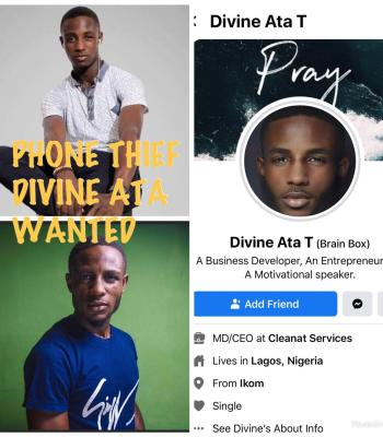 CCTV Tracks Young Man, Divine Ata Stealing Phone, Declared Wanted {Video/Photo}