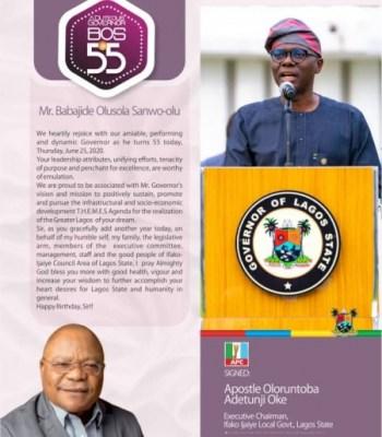 CELEBRATING THE REINVENTOR OF THE LAGOS REVOLUTION @ 55!