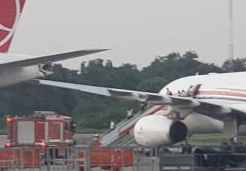 Accident: Two Planes Collide At Lagos Airport
