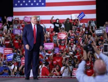 Trump Holds First Indoor Rally In Months, Flouting Local Orders {Photos} ~Thecitypulsenews