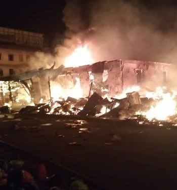 Again Another Building Guts Fire In Lagos Island, One injured