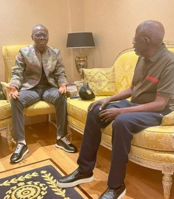 Just In: Photo News: Gov Sanwo-Olu Visits Tinubu In London Amid Death Rumour (See Picture)