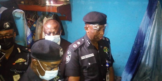 Lagos police commissioner visits family of lady killed by stray bullet fired by an officer (photos)