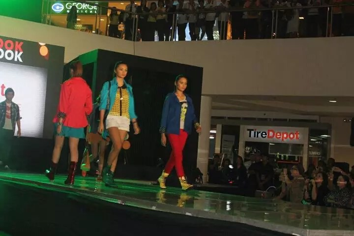 Models on the runway of SM Fairview Lookbook