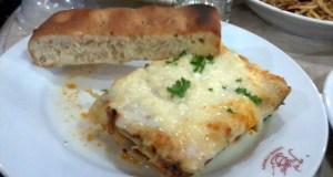 Meaty Lasagna at Figaro Market! Market!