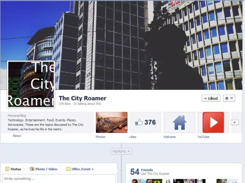 The City Roamer Facebook Page
