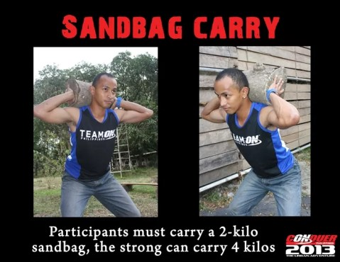CONQUER PHILIPPINES-sandbag carry